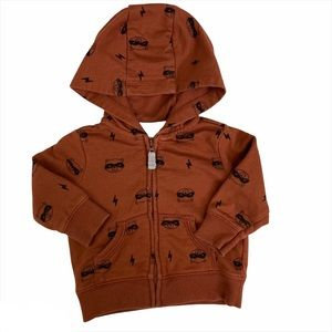 Carter's Boys Brown Racoon French Terry Hoodie